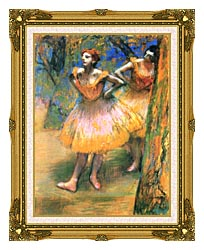 Edgar Degas Two Dancers canvas with museum ornate gold frame