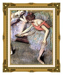 Edgar Degas Danseuses canvas with museum ornate gold frame