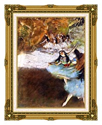Edgar Degas Ballet On The Stage canvas with museum ornate gold frame