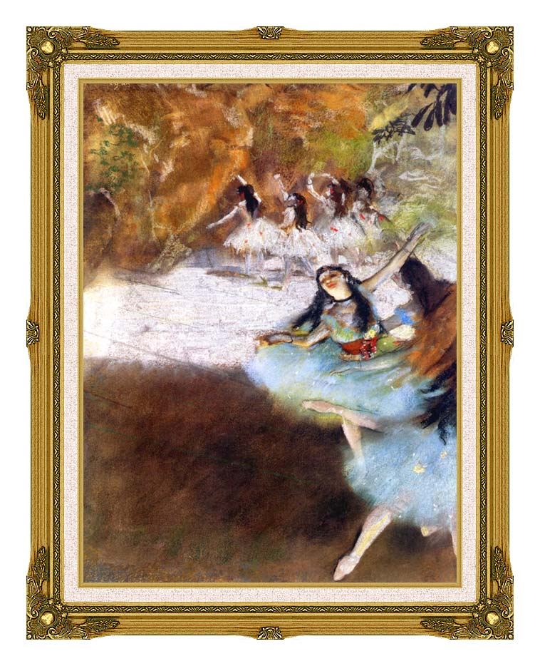 Edgar Degas Ballet on the Stage with Museum Ornate Frame w/Liner