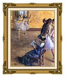 Edgar Degas The Ballet Class canvas with museum ornate gold frame