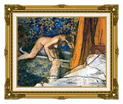 Edgar Degas The Bath Impressionism canvas with museum ornate gold frame