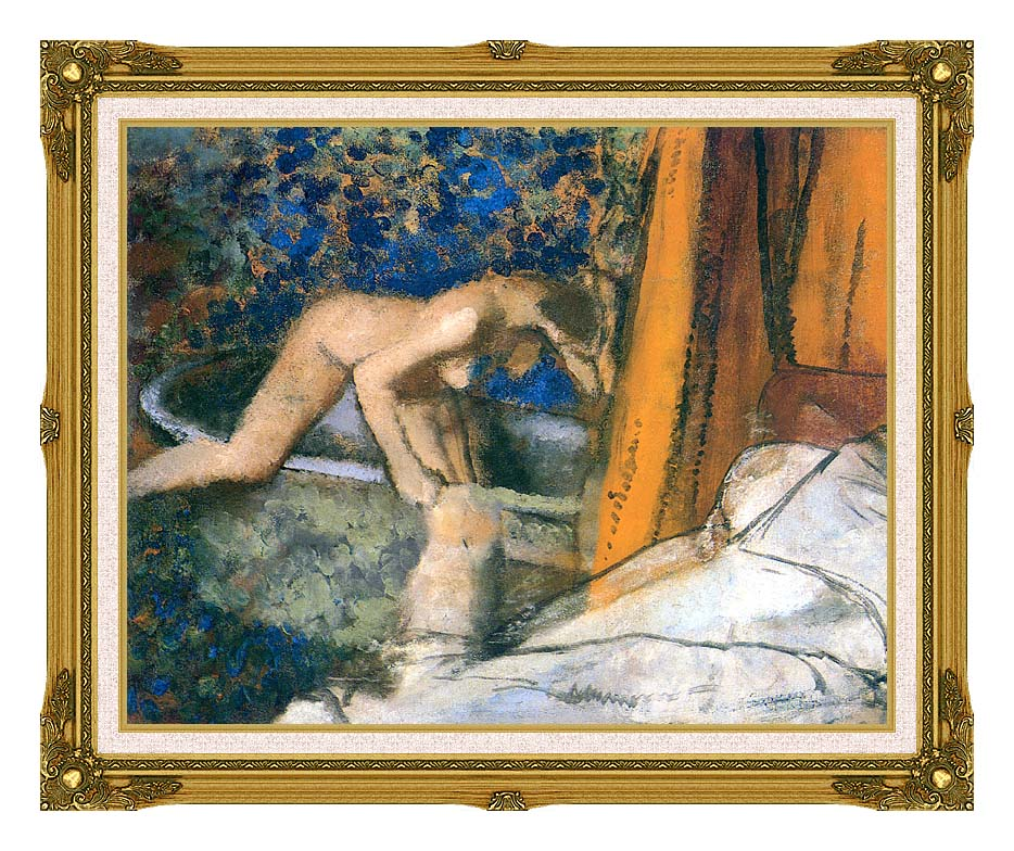 Edgar Degas The Bath, Impressionism with Museum Ornate Frame w/Liner
