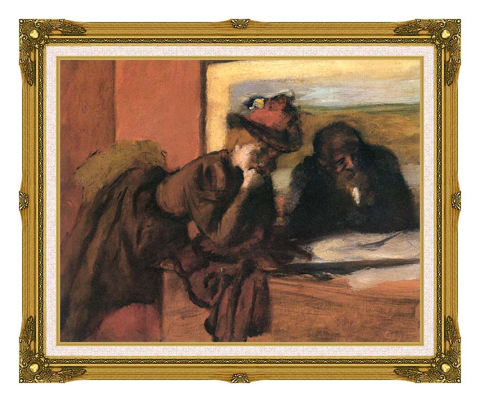 Edgar Degas The Conversation with Museum Ornate Frame w/Liner