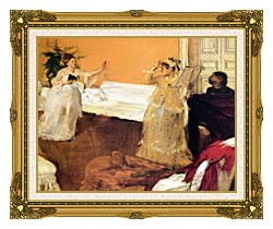 Edgar Degas The Song Rehearsal canvas with museum ornate gold frame