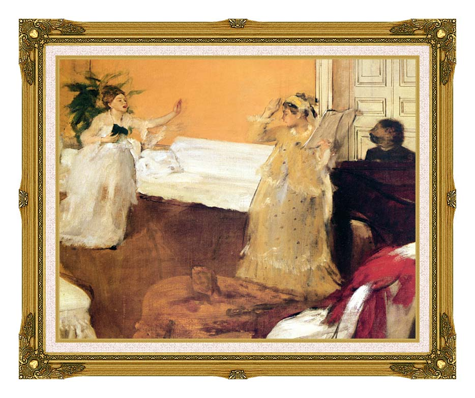 Edgar Degas The Song Rehearsal with Museum Ornate Frame w/Liner