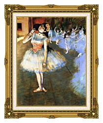 Edgar Degas The Star Impressionist Art canvas with museum ornate gold frame