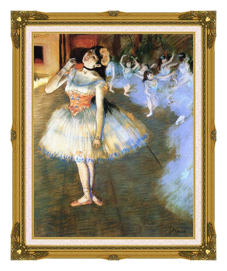 Edgar Degas The Star Impressionist Art with Museum Ornate Frame w/Liner