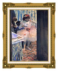 Edgar Degas Dancer In Her Dressing Room canvas with museum ornate gold frame