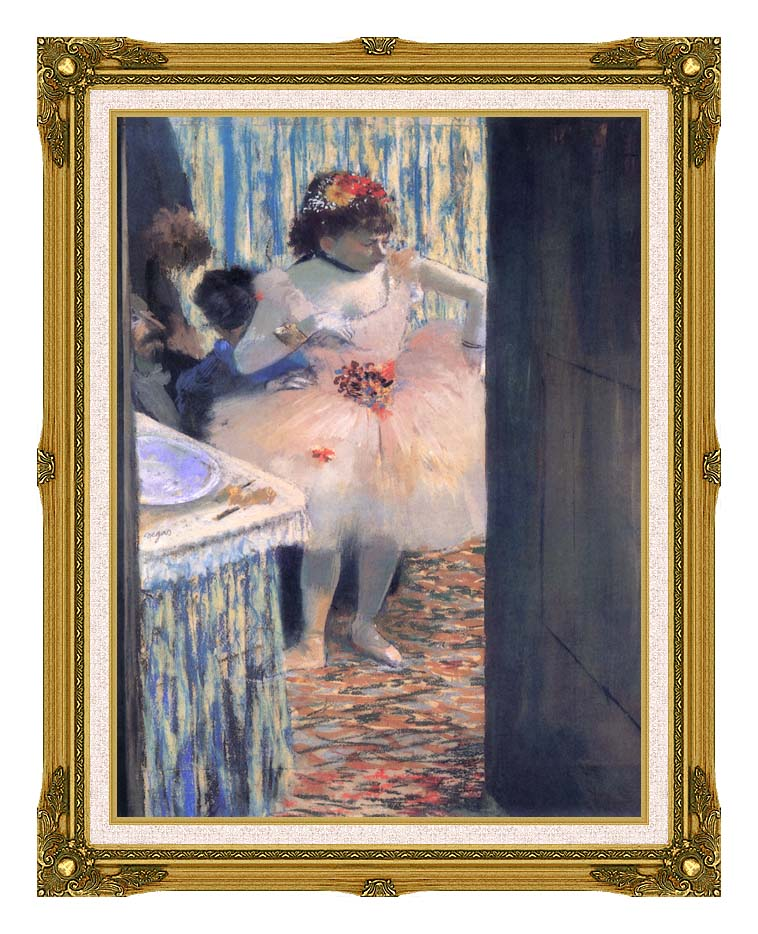 Edgar Degas Dancer in Her Dressing Room with Museum Ornate Frame w/Liner