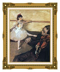 Edgar Degas The Dance Lesson canvas with museum ornate gold frame