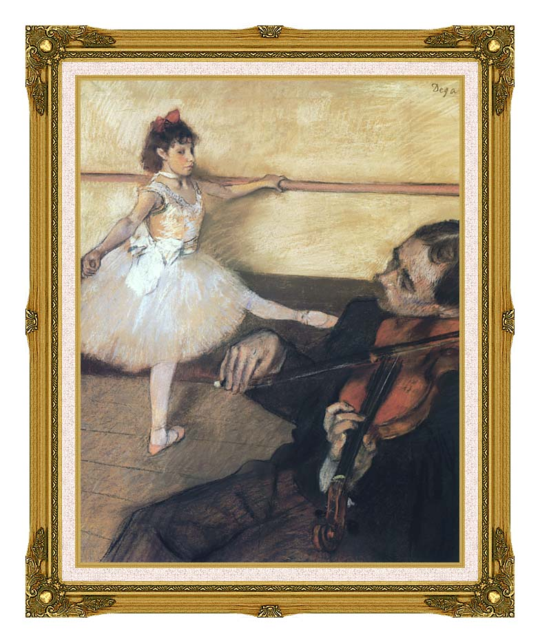 Edgar Degas The Dance Lesson with Museum Ornate Frame w/Liner