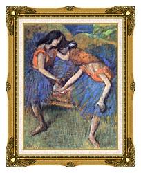 Edgar Degas Degas Ballerinas canvas with museum ornate gold frame