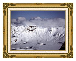 U S Fish And Wildlife Service Aniakchak Caldera canvas with museum ornate gold frame