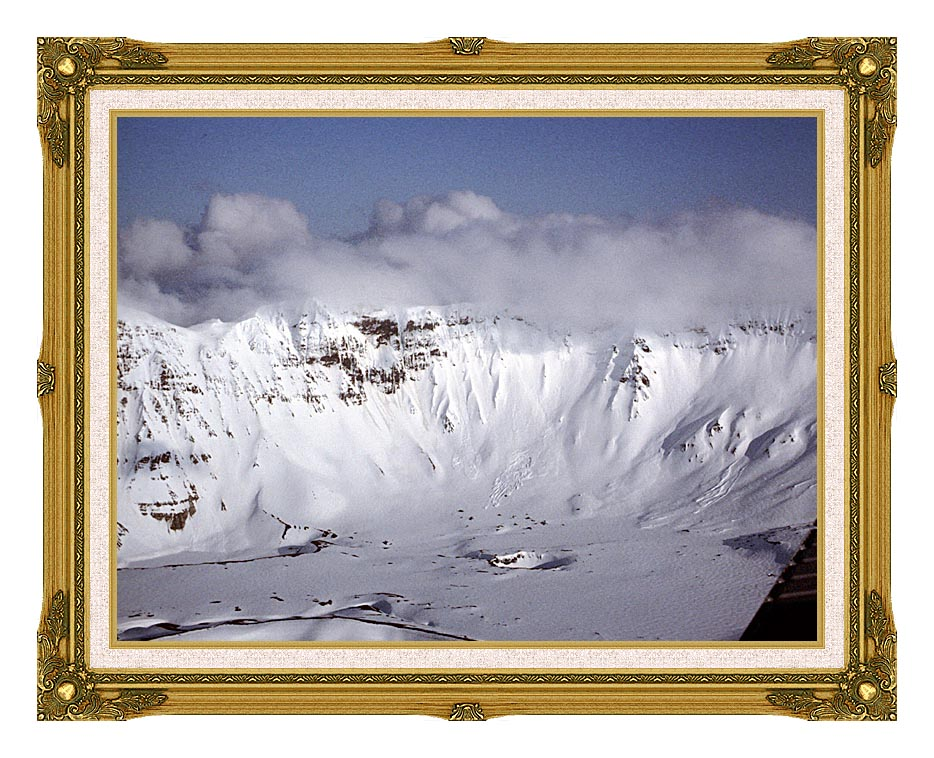 U S Fish and Wildlife Service Aniakchak Caldera with Museum Ornate Frame w/Liner