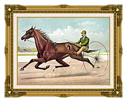 Currier And Ives Edwin Thorne canvas with museum ornate gold frame