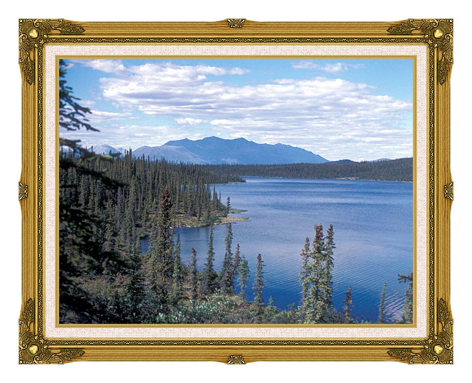 U S Fish and Wildlife Service Blackfish Lake with Museum Ornate Frame w/Liner