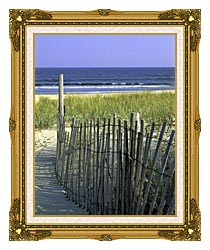 U S Fish And Wildlife Service Chincoteague National Wildlife Refuge canvas with museum ornate gold frame