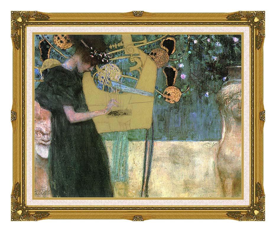 Gustav Klimt Music I with Museum Ornate Frame w/Liner