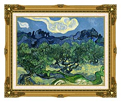 Vincent Van Gogh The Olive Trees canvas with museum ornate gold frame