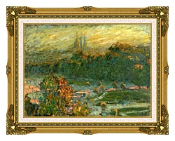 Claude Monet The Tuileries Study canvas with museum ornate gold frame