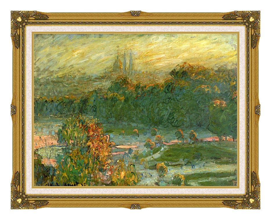 Claude Monet The Tuileries (study) with Museum Ornate Frame w/Liner