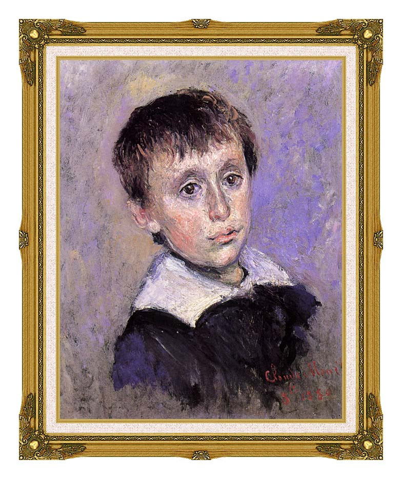 Claude Monet Jean Monet with Museum Ornate Frame w/Liner