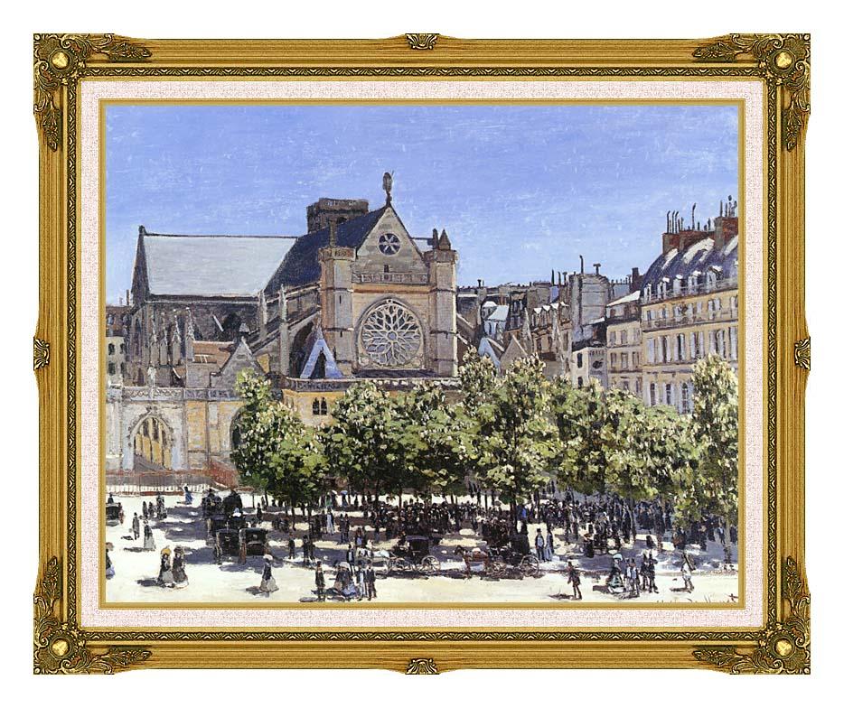 Claude Monet Saint Germain l'Auxerrois with Museum Ornate Frame w/Liner