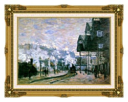Claude Monet The Western Region Goods Sheds canvas with museum ornate gold frame