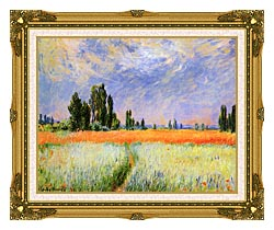 Claude Monet The Wheat Field canvas with museum ornate gold frame