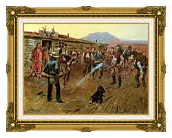 Charles Russell The Tenderfoot canvas with museum ornate gold frame