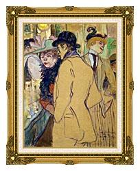 Henri De Toulouse Lautrec Alfred La Guigne canvas with museum ornate gold frame