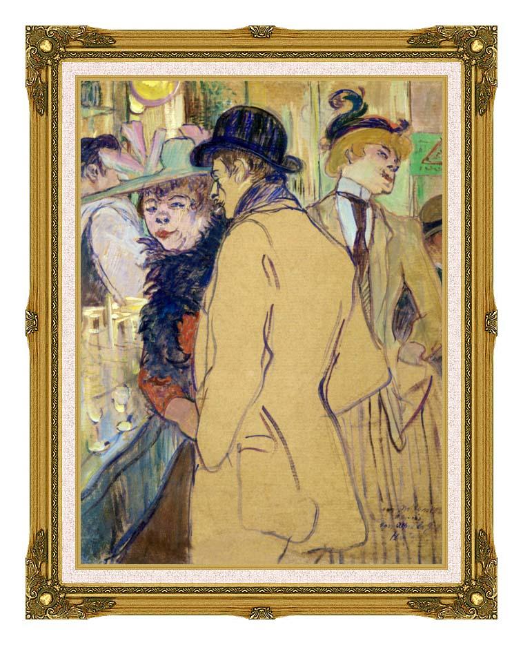 Henri de Toulouse Lautrec Alfred la Guigne with Museum Ornate Frame w/Liner