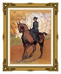 Henri De Toulouse Lautrec Amazone canvas with museum ornate gold frame