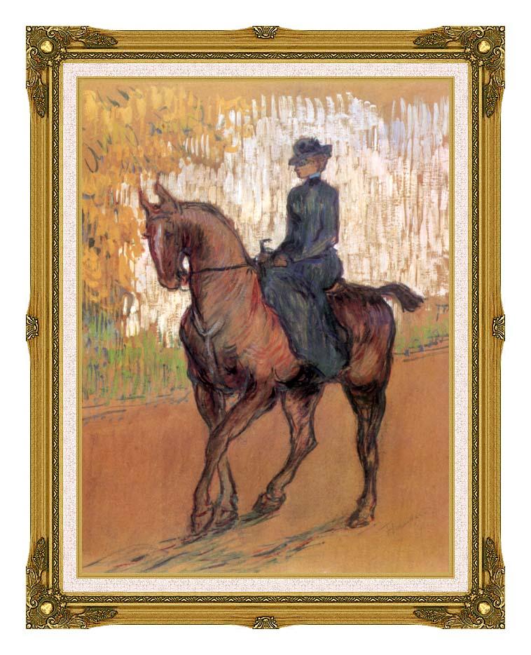 Henri de Toulouse Lautrec Amazone with Museum Ornate Frame w/Liner
