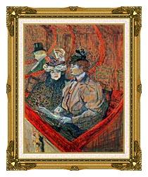 Henri De Toulouse Lautrec La Grande Loge canvas with museum ornate gold frame