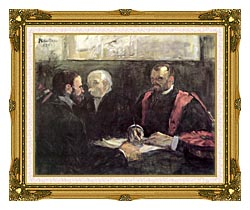 Henri De Toulouse Lautrec An Examination At The Faculty Of Medicine Paris canvas with museum ornate gold frame