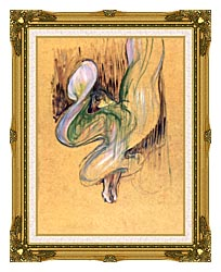 Henri De Toulouse Lautrec Loie Fuller canvas with museum ornate gold frame