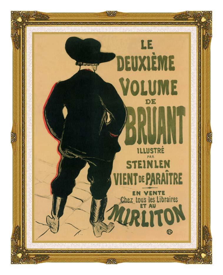 Henri de Toulouse Lautrec Aristide Bruant at the Mirliton with Museum Ornate Frame w/Liner