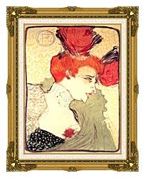 Henri De Toulouse Lautrec Marcelle Lender canvas with museum ornate gold frame
