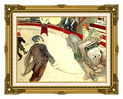 Henri De Toulouse Lautrec At The Cirque Fernando The Ringmaster canvas with museum ornate gold frame