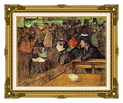 Henri De Toulouse Lautrec The Moulin De La Galette canvas with museum ornate gold frame