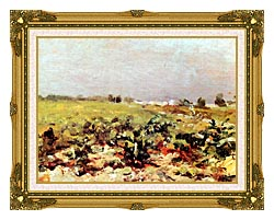 Henri De Toulouse Lautrec Celeyran View Of The Vineyards canvas with museum ornate gold frame