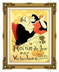 Henri De Toulouse Lautrec Reine De Joie Par Victor Joze canvas with museum ornate gold frame