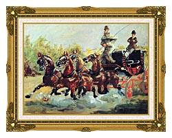 Henri De Toulouse Lautrec Count Alphonse De Toulouse Lautrec Driving His Mail Coach canvas with museum ornate gold frame