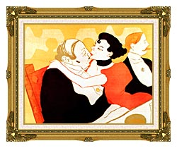 Henri De Toulouse Lautrec Reine De Joie Par Victor Joze Detail canvas with museum ornate gold frame