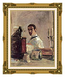 Henri De Toulouse Lautrec Henri De Toulouse Lautrec Self Portrait canvas with museum ornate gold frame