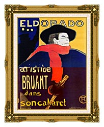 Henri De Toulouse Lautrec Eldorado Aristide Bruant canvas with museum ornate gold frame