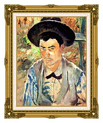 Henri De Toulouse Lautrec Study For A Young Routy canvas with museum ornate gold frame