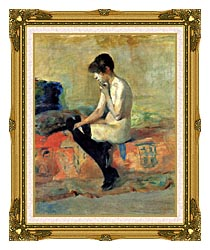 Henri De Toulouse Lautrec Study Of A Nude canvas with museum ornate gold frame